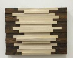 Wood Wall Art - Wood Art Sculpture Reclaimed Wood Art Wall Installation