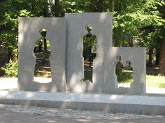 A sculpture honoring Mennonites who left Chortitza Ukraine. One of my grandparents is descended from people who left here. Goshen College, Ukraine, What Next, My Heritage, Family History, Places Ive Been, Places To Visit, Culture, Amish
