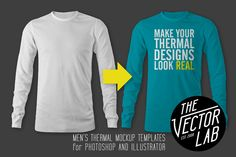 Men's Thermal Mockup Templates by TheVectorLab on @creativemarket