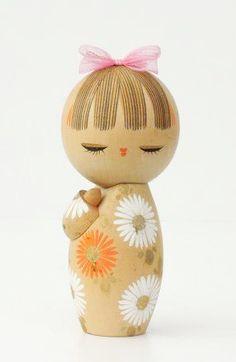 Vintage Flower Kokeshi