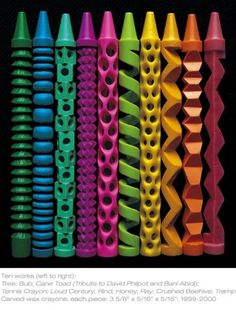 Awesome crayon carvings!