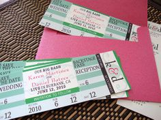 Wedding Save the Date Ticket