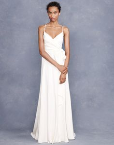 I really like how simple it is (would go fabulous with some exciting jewellery and hair!) and I think it would also be nice a cool during the wedding/reception.  J.Crew Goddess Gown ($575)