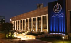 Lakewood Church in Houston, TX   Joel Osteen.  Would love to see him and hear him in person one day!!! :)