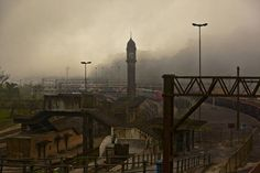 Vista da antiga estação ferroviária de Paranapiacaba, em São Paulo.