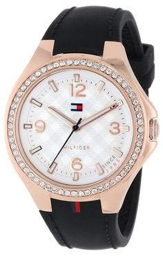 Women watches Shop online for Tommy Hilfiger Women s 1781375 Sport Luxury  Rose Gold Swarovski Crystal Set Bezel Watch c196017f5ed