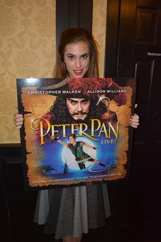 That is one big CD Allison, where did you get it? Peter Pan Live, Allison Williams, You Get It, Broadway Shows, Singing, Big