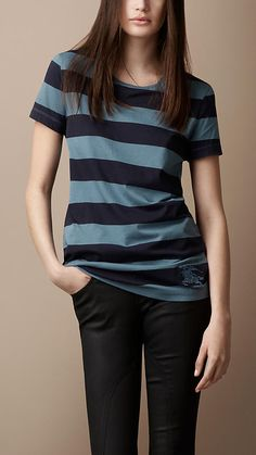 Burberry Brit Rugby Stripe Cotton T-Shirt