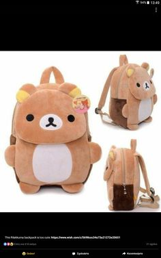46e3fc06f2 Buy Cute Plush Rilakkuma Bear Kids Boys Cartoon Schoolbags Backpack  Shoulder Bags Pre-school Bag at Wish - Shopping Made Fun