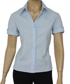 Camisa Social Feminina Lisa Manga Curta :: Netroupas Moda Executiva