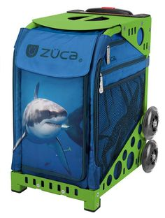Zuca from Wooska. Shark Insert Bag and Frame. 10 frame colors, wheels flash or no flash. We will personalize for you. Free Gift. No Sales Tax. Free US Shipping