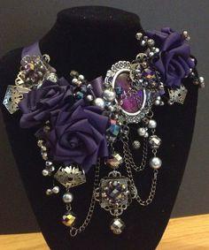 Queen Porphyra Steampunk Gothic necklace. $215.00, via Etsy.