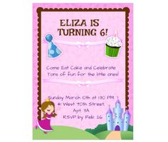 Download this Birthday Girl Invitation Card and other free printables from MyScrapNook.com