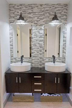 Mirrors are a focal point of any bathroom. Framing your mirror(s) not only accessorizes your mirror, but also automatically updates the entire bathroom. This also creates a style unique for that particular space. www.mirrorupgrade.com