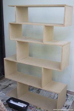 DIY Como fazer estante de livros gastando pouco com MDF 11