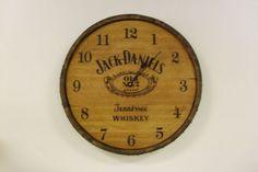 Authentic Jack Daniels Whiskey Barrel Head Clock