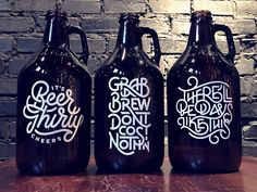 My final beer growler series triptych! Happy to see it all come together.