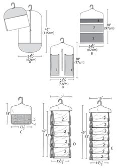 Garment bag and organizers measurements