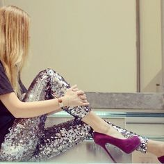 Sequined leggings - @chiaraferragni- #webstagram
