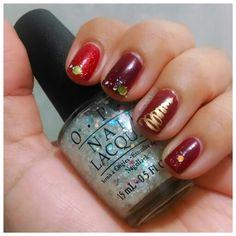 #NailArt #NailPolish #OPI #SnowGlobetrotter #Glitter #XmasTree #Xmas