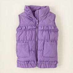 ruffle puffer vest  (childrensplace,16.06)