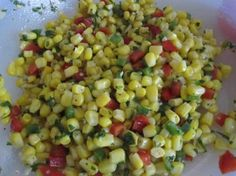 Mexican Corn Salad - Made this for the taco bar at our detective party for Conrad and Teague today! Yummy!