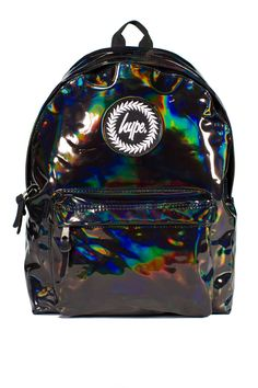 **Black Metallic Backpack by Hype - Bags & Purses - Bags & Accessories - Topshop