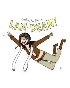 Lan-dean!! Kyla cannot pass up a Community pin!!