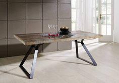 Tisch der Serie INDUSTRIAL aus Altholz