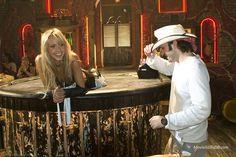 Sin City behind the scenes photo of Jessica Alba & Robert Rodriguez