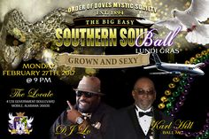 If you're Grown and Sexy, you need to join Order of Doves Mystic Society for a night filled with fun, food, dancing and laughter as we Swing Into The Big Easy, Southern Soul Style. Dress code is semi-formal and masks and umbrella are optional. Tickets on sale now for only $40 per person, or $400 per table which includes food, entertainment, adult beverages, and a dessert bar. Tickets can be purchased from any Order of Dove member or the Party Bus Lady at 251-317-1BUS. The ball is held on…