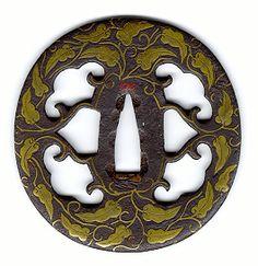 TSUBA | Early Brass Inlay Tsuba
