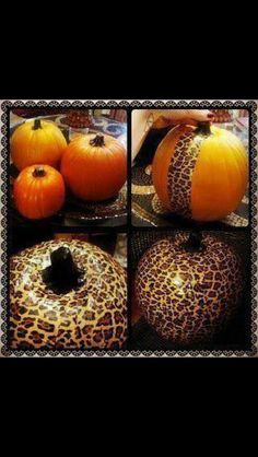Decorate pumpkins with Duct Tape!!