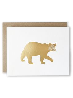 """Bear Gold Foil Card 