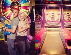Chuck E Cheese engagement shoot. Connection Photography.