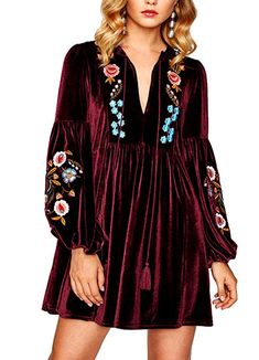 Cheap women dress, Buy Quality velvet dress directly from China a dress Suppliers: SHEIN Tasseled Tie Bishop Sleeve Embroidery Velvet Dress Navy Long Sleeve V Neck A Line Dress Fall Women Dresses Plus Size Maxi Dresses, Casual Dresses, Short Sleeve Dresses, Long Sleeve, Floral Dresses, Linen Dresses, Girls Dresses, Very Short Dress, Dress Long