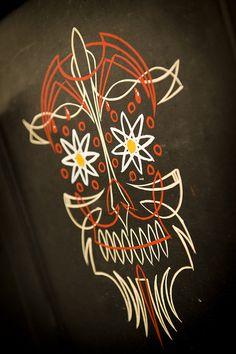 Devil Pinstriping by Kelly's Kustom Pinstriping, via Flickr