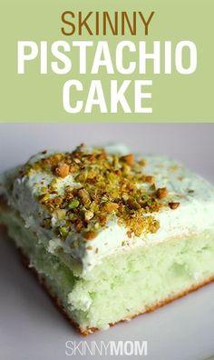 Skinny Pistachio Cake