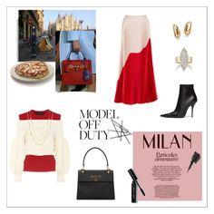 """Mamma Mia! Milan Fashion Week"" by daniela1501 ❤ liked on Polyvore featuring Reem Acra, Dolce&Gabbana, Valentino, Balenciaga, Loren Stewart, David Yurman, Palm Beach Jewelry, Renee Lewis, Prada and Crate and Barrel"