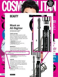 @Cosmopolitan featured Avon Celebrity Makeup Artist Lauren Andersen and Wide Awake Mascara in their latest issue!