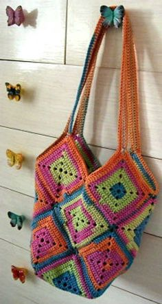 This cute bag is one of the most popular free crochet patterns on Ravelry
