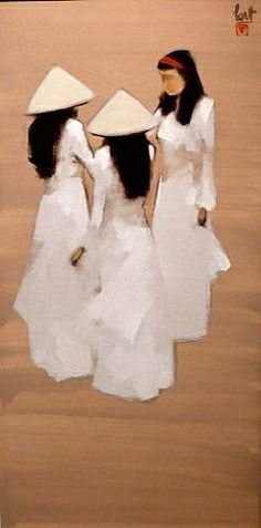 artnet Galleries: Three Girls by Nguyen Thanh Binh from Kings Road Gallery & Tanya Baxter Contemporary