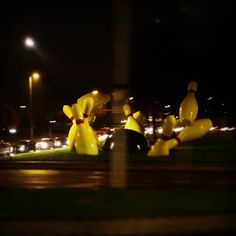 Huge skittles #skittles #sculpture #eindhoven #netherlands #dutch #bowling #ninepins #art #modernart