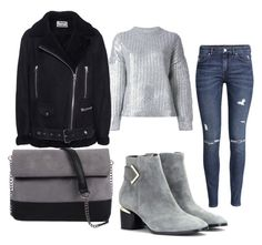 """""""Untitled #202"""" by stefaniacristiana on Polyvore featuring DKNY, H&M, Acne Studios, Nicholas Kirkwood and 7 Chi"""