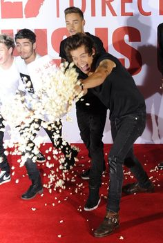 Give them popcorn most chances are they won't eat it