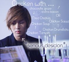 I like chicken too but Onew needs an intervention