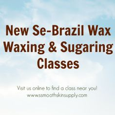 Looking for professional waxing or sugaring classes?? Visit us online www.ssmoothskinsupply.com