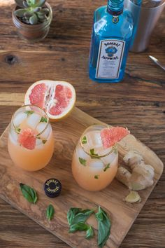 Ginger Basil Grapefruit Cocktail http://bbritnell.com/2015/05/grapefruit-cocktail-the-southern-soiree-linkup/