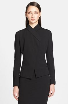 This looks like a jacket but is called a cardigan which sounds more comfortable. It's made of a rayon/nylon/Elastane blend which means it will have a bit of stretch. Business Women, Business Suits, Tights Outfit, Working Woman, Donna Karan, Work Wear, Peplum Dress, Nordstrom, Slim