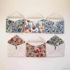 Little Fabric Envelope PDF Pattern - Lovelui~Kind of self explanatory.Just stabilize the fabric first. Fabric Envelope, Envelope Pattern, Envelope Tutorial, Fold Envelope, Sewing Projects For Beginners, Sewing Tutorials, Sewing Crafts, Diy Projects, Fabric Patterns